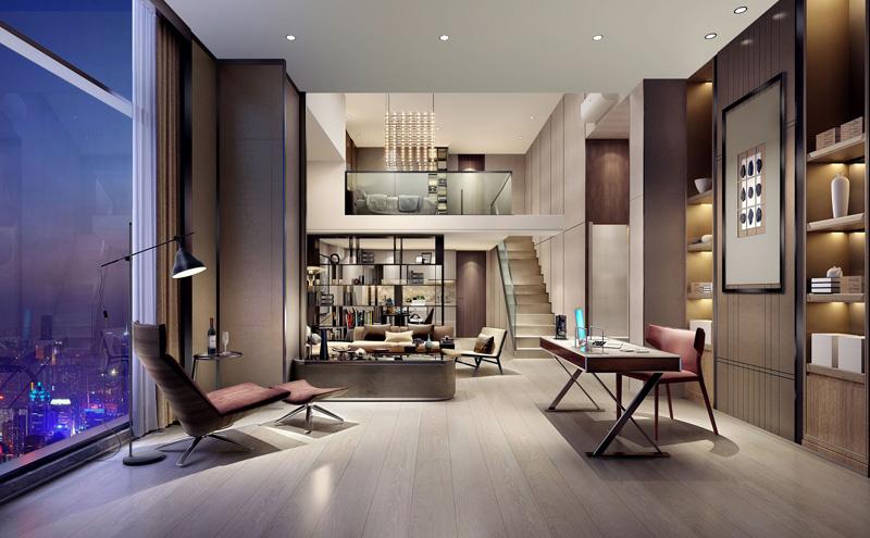 深城投酒店式公寓室內裝修設計