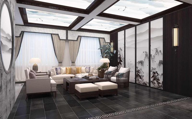新中式風格私人會所裝修設計